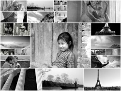 Many photos in black and white