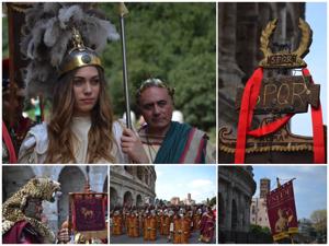 Fotografie del corteo del Natale di Roma