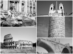 Pictures of Rome in black and white
