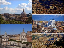 Pictures above Rome