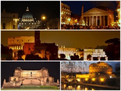 Photo gallery of Rome by night