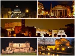夜のローマのフォトギャラリー