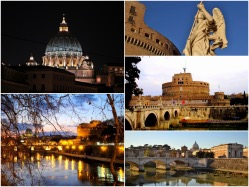 报喜鸟的城堡和圣彼得大教堂的图片库
