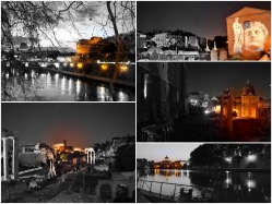 Foto notturne di Roma con effetto speciale